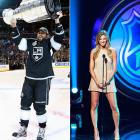With the reports   that the L.A. Kings forward and the sportscaster   spent New Year's Eve canoodling in Las Vegas, we are reminded that despite hockey's redheaded stepchild status on America's sports landscape, NHL players do pretty well when it comes to dating or marrying celebrities. Mr. Stoll, for example, has been linked to a bevy of beauties...