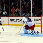 Alex Kovalev, the Canadiens' biggest current star, scored two breakaway goals in the game and then scored on Roberto Luongo in the shootout.