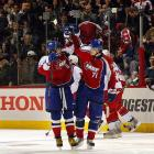 Fellow Russian and thought to be current rival Evgeni Malkin congratulated Alex Ovechkin on his game-winning shootout goal to give the Eastern Conference a 12-11 victory over the West.