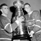 Rocket Richard and Jean Beliveau were frequently seen smiling with their old friend Stanley during these years. In the 1960 final, the Habs capped off their record-setting streak of five Cups by sweeping Toronto as The Rocket set a career record of 34 finals tallies.