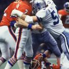 Based on the assumption that it gets no worse than zero -- Morton's record-low passer rating on this day -- this is easily the worst performance by any quarterback in Super Bowl history. Let's put it this way: if Morton had simply thrown 15 passes into the dirt in 15 attempts, his passer rating would have been an Tony Eason-esque 39.6. He was eventually replaced by the legendary Norris Weese, who was no better (4 of 10 for 22 yards), but who at least guided Denver to its only touchdown in the 27-10 loss after a long Rick Upchurch kick return.   Send comments to siwriters@simail.com.