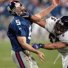 Collins has had a relatively prolific pro career, but he'll forever be associated with this Chernobyl-style meltdown in Tampa in which the Giants failed to score a single offensive point in a 34-7 defeat. At least Collins was an egalitarian in his effort: four members of Baltimore's 11 defensive starters picked off a pass.