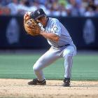 With Randy Johnson and Ken Griffey Jr. both gone from Seattle, Rodriguez carried the load in 2000, leading the Mariners to the ALCS in his final season with the club. He batted .316, hit 41 home runs, and became the first shortstop ever to drive in 100 runs, score 100 runs and draw 100 walks in a season.