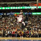 Make that three. The little man from New York took home his third dunk contest crown, beating out DeMar De Rozan with 51 percent of the votes in the final to become the first three-time winner in the event's history.