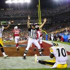 Santonio Holmes was named Super Bowl MVP after making the six-yard touchdown grab. He finished the night with nine catches for 131 yards.