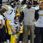 It's rare to see a coach and quarterback holding hands, but coach Tomlin and Ben Roethlisberger went through thick and thin together as the Steelers survived the NFL's toughest schedule in 2008 to reach the playoffs and win the Super Bowl.