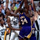 Robinson had a chilly relationship with Shaquille O'Neal, his rival in the pivot and in the Western Conference playoffs during Shaq's time with the Lakers. Apparently upset with the Admiral for his tepid response to O'Neal's autograph request years earlier, Shaq referred to him as ''Punk Ass David Robinson'' in his book 'Shaq Talks Back.' O'Neal also wrote that he wanted to dominate Robinson on the court ''because I got tired of the goody-two-shoes image he was throwing out there.''