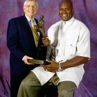 """Shaq wasn't a fan when the commissioner instituted a dress code for players and (briefly) replaced the leather basketball with a synthetic version. O'Neal said Stern """"should get with the mothers of the NBA and let the moms decide what the dress code should be,"""" and the big fella likened the new ball to """"touching an exotic dancer and then touching a plastic blowup doll."""""""