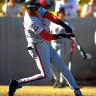 """After his season with the Barons, Jordan reported to the Scottsdale Scorpions of the Arizona Fall League. He hit .252 and called himself the team's """"worst player."""" In March 1995, in the midst of baseball's eight-month strike, Jordan returned to the NBA via a two-word press release: """"I'm back."""""""