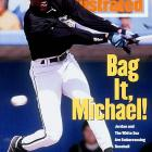 """In taking stock of Jordan's performance early in spring training,  Sports Illustrated 's Steve Wulf wrote, """"Michael Jordan has no more business patrolling right field in Comiskey Park than Minnie Minoso has bringing the ball upcourt for the Chicago Bulls."""""""