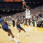 Hall of Famer Michael Jordan raised his national profile when, as a freshman, he made the go-ahead jumper in the closing seconds of North Carolina's 63-62 victory against Georgetown in the 1982 national championship game.