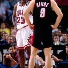 The Bulls repeated as champions in 1991-92. Jordan set the tone in the NBA Finals against Portland, hitting six three-pointers and scoring 35 points in the first half of Game 1.