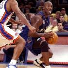 Jordan's first NBA game without the Bulls came Oct. 30, 2001, when he scored 19 points in the Wizards' loss in New York. The Wizards finished 37-45 and failed to make the playoffs that season, with Jordan averaging a team-high 22.9 points but shooting only 41.9 percent from the field.