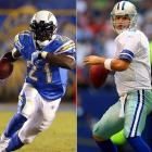 Interesting cross-conference matchup will feature NFL mega-stars Tony Romo and LaDainian Tomlinson meeting for the first time.