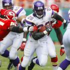 Nicknamed A.D. (for All Day), Peterson has made quite an impact in his first two seasons, setting the single-game rushing record (296 yards) as a rookie and leading the Vikings to the playoffs in his second year.<br><br>Others considered: <br>WR Roy Williams (2004)<br><br>Send comments to siwriters@simail.com