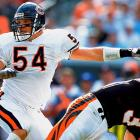 Urlacher has been the centerpiece of the Bears defense for a decade, being named an All-Pro four times and winning Defensive Player of the Year honors in 2005.<br><br>Others considered: <br>Kevin Williams (2003), Ernie Sims (2006)