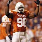 The Longhorns pass-rushing terror can line up in a three point stance or stand up over tackle as a rush linebacker.