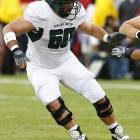 That he's versatile enough to play five positions on the offensive line makes him attractive to several teams.