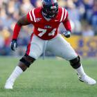 He's a solid tackle prospect with potential on the left or right side.