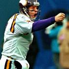 After starting the season as Randall Cunningham's backup in Minnesota, Jeff George stepped into the starting role, posted an 8-2 record, throwing for 2,816 yards and 23 touchdowns as he led the Vikings to the playoffs. Minnesota opted to let George walk after the season, and the veteran joined the Redskins as Brad Johnson's backup. In six games during the 2000 season, George threw for 1,389 yards but couldn't wrestle the starting job away from Johnson.