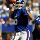 Kerry Collins has had to restart his career twice on the heels of 3,000-yard passing seasons. In 2003, Collins threw for 3,110 yards with Big Blue but led them to just four wins. After the season, the Giants signed former MVP Kurt Warner and gave Collins his release. He landed with the Raiders and, although he started the '04 season as a backup to Rich Gannon, he took over the starting job when Gannon went down with a neck injury. Collins, however, played only two seasons with the Raiders, posting an unimpressive 7-21 record before being cut. He jump-started his career in Tennessee, replacing Vince Young and leading the Titans to the AFC South title. He retired in July 2011.