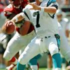 Steve Beuerlein started all 16 games for Carolina in 1999 and 2000, throwing 53 touchdown passes and for 8,166 yards. After being released he tried to make a go of it as Brian Griese's backup in Denver, but made only five more starts over the next two seasons.