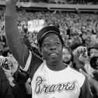Hank Aaron hit his 715th home run to break Babe Ruth's home run record.