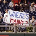 Phillies fans take pleasure in mocking the suspension of Manny Ramirez.