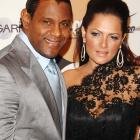 "Sammy Sosa (remember him?) and his wife, Sonia, walking the red carpet at the People En Espanol ""50 Most Beautiful"" gala."