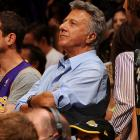 Dustin Hoffman really spread his enthusiasm at Game 7 of the Western Conference semifinals between the Lakers and Rockets.