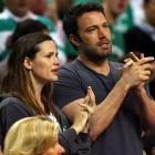 Jen and Ben show their Celtic love at Game 7 of the Eastern Conference semifinals.