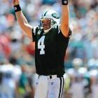 "Favre decides to come back and is traded to the Jets. He says: ""My interest at first ... was to stay within the division. (But) I'm here to help the Jets win."""
