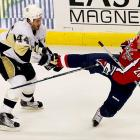 """The Penguins are known for offensive firepower, but Orpik is their brawn. The 6-2, 219-pound black-and-blueliner leads the playoffs with 60 hits after two rounds -- and ranked second with 309 during the regular season. """"I don't think anyone likes to get hit,"""" he told the Pittsburgh Post-Gazette. """"But there are some guys, you can get them off their game. Maybe they don't come through the neutral zone with the same speed. Or maybe they take their eye off the puck and turn it over looking for you instead of worrying about making a play."""""""