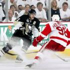 Evgeni Malkin made waves at the end of Game 2 by getting into a scrum with Wings' center Henrik Zetterberg. In Game 3 he took his revenge by notching three assists.