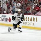 Pittsburgh Penguins center Maxime Talbot scored both goals against the Red Wings in Game 7.