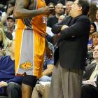 """The bad blood between Shaq and Stan Van Gundy started when both were with Miami in 2005, when Shaq criticized Van Gundy's coaching decisions following Miami's loss to the Pistons in Game 7 of the Eastern Conference Finals. The rift widened this year when Van Gundy criticized Shaq for """"flopping"""" against Dwight Howard in a March game between the Suns and Magic. Shaq fired back, calling Van Gundy a """"frontrunner,"""" a """"master of panic,"""" and a """"nobody."""" Apparently unaffected, Van Gundy responded: """"If you're going to dish it out, you've got to be able to take it. And I can take it."""""""