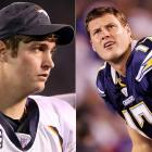 """Sparks flew when two of the league's most outspoken young quarterbacks met in a Monday Night Football game in December 2007. Rivers and Cutler were caught jawing at each other as Cutler was walking off the field following a failed fourth-down conversion. When asked last October on """"The Best Damn Sports Show Period"""" if he thought Rivers was """"kind of an ass,"""" Cutler responded by saying he's """"not a big fan of the guy.""""  The feeling is obviously mutual."""