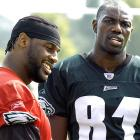 """T.O. has apparently never heard the saying """"don't bite the hand that feeds you,"""" because after McNabb campaigned for the Eagles to sign Owens in 2004, connected with him for over 1,200 yards and 12 TDs, and took him to the first Super Bowl appearance of his career, the controversial receiver criticized McNabb's performance in the championship game. Owens also complained frequently about not getting the ball enough, and even said that the Eagles would be better off with Brett Favre. McNabb took offense to the final comment, calling it """"black on black crime."""" The two were caught arguing on the sidelines several times before Owens' comments earned him a one-way ticket out of Philadelphia."""