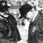 """These two titans actually liked one another -- Schembechler played for Hayes at Miami of Ohio -- but the Michigan-Ohio State rivalry made them rivals. Hayes, who called Michigan """"that school up north"""" went 4-5-1 against his former pupil in what is now known as """"The 10-Year War."""" The rivalry only deepened the respect the coaches had for one another. """"If Bo is not a winner, I never saw one and I should know,"""" Hayes told Ohio State student paper The Lantern in 1986. """"He beat me the last three games we played. We've fought and quarreled for years but we're great friends."""""""