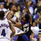 Following a Washington victory over the Cavaliers in March 2008, Wizards' guard DeShawn Stevenson raised eyebrows by calling King James ''overrated.'' LeBron laughed it off and later said ''It's almost like Jay-Z [responding to a negative comment] made by Soulja Boy.'' In a comical twist, the feud went multi-industrial the following month when Jay-Z made a diss record about Stevenson. Stevenson continued to speak out, but LeBron had the last word as his Cavs defeated the Wizards in the first round of the Eastern Conference playoffs.