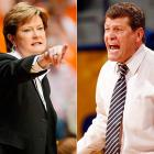 """Put together two most successful programs in women's college basketball history (1679 wins and 13 championships between them) -- one a wise-cracker, and the other...well, not so much -- plus an annual matchup, and you have all the ingredients for a sports feud. Summitt and Auriemma have quarreled via the media throughout the years, particularly over Auriemma's 2003 reference to Tennessee as """"the Evil Empire,"""" but in 2007 Summitt took the rivalry to a new level when she refused to renew the perennial matchup between their teams."""