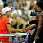 ''I think she made a lot of lucky shots and I made a lot of errors.''<br><br>-- Williams after losing to Justine Henin in the quarterfinals of the 2007 U.S. Open.