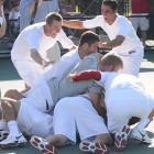 When USC's Robert Farah rallied for a 5-7, 6-1, 6-4 victory over Ohio State's Bryan Koniecko at the NCAA men's tennis championships, the Trojans clinched their 17th national title. On the women's side, Duke swept Cal for its first crown.