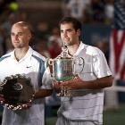 The longtime rivals announced their exhibition match for Oct. 25 in Macau. Sampras and Agassi met 34 times during their playing careers (the former had a 20-14 advantage), including the finals of the Australian Open in 1995, Wimbledon in '99 and the U.S. Open in '90, '95 and '02.