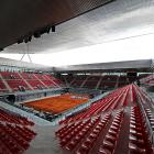 The ambitious vision of French architect Dominique Perrault, the site of the Madrid Open -- and a centerpiece of the city's bid for the 2016 Olympics -- features three show courts with independent retractable roofs in addition to 27 outdoor courts.