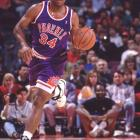 Phoenix's Charles Barkley hits 23-of-31 field goal attempts and finishes with 56 points, leading the visiting Suns to a 140-133 win over Golden State and a three-game sweep of their Western Conference First Round series.