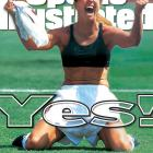 This shot of Chastain celebrating after scoring on the fifth penalty kick of the World Cup finals against China is one of the most famous photos in the history of women's sports. This image was featured on the covers of not only SI, but also TIME and Newsweek.