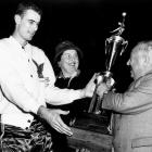 In only his second season, Pettit led the league in scoring (25.7) and rebounding (16.2) on his way to claiming the league's inaugural MVP award. He would go on to capture the award again after the 1958-59 season.