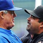 The two Chicago managers have a sentimental moment. Hug it out, guys.
