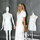 Sharapova shows her love for fashion as she strikes a pose in the Liberty store in London.